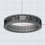 CAD ALPFABET RING 05