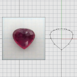 CAD IRREGULAR CUT RUBY 03