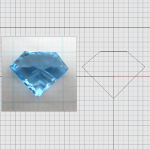 CAD IRREGULAR CUT TOPAZ 03