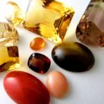 黄色系の色石